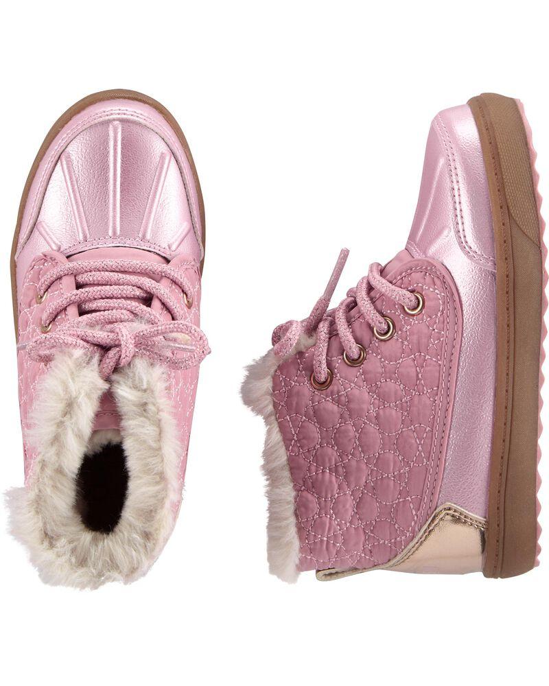 Carters Kids Girls Bay2-g Pink Duck Boot Fashion