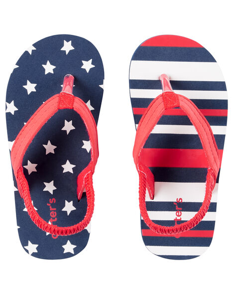 a608a4d9aa Carter's Fourth of July Flip Flops | Carters.com
