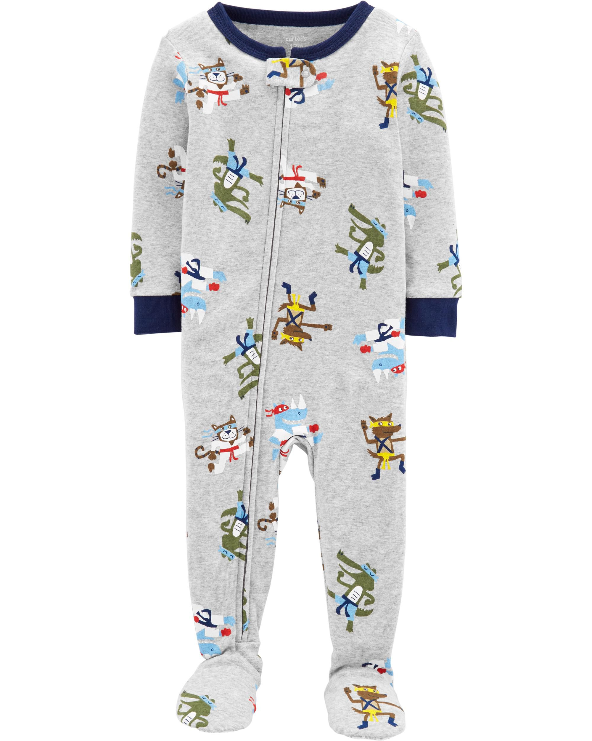 Carters Lot Of 2 One Piece Fleece Pajama Owl Reindeer New With Tags And To Have A Long Life. 2t