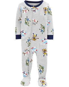 6733cefeb8 1-Piece Ninja Snug Fit Cotton Footie PJs