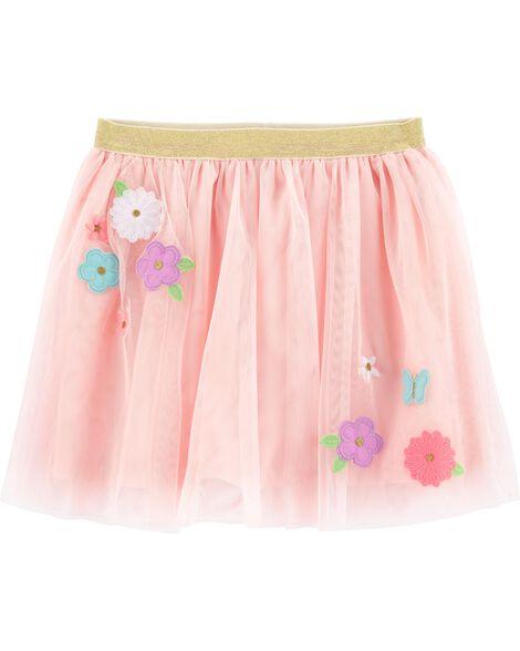 Flower Tulle Tutu Skirt