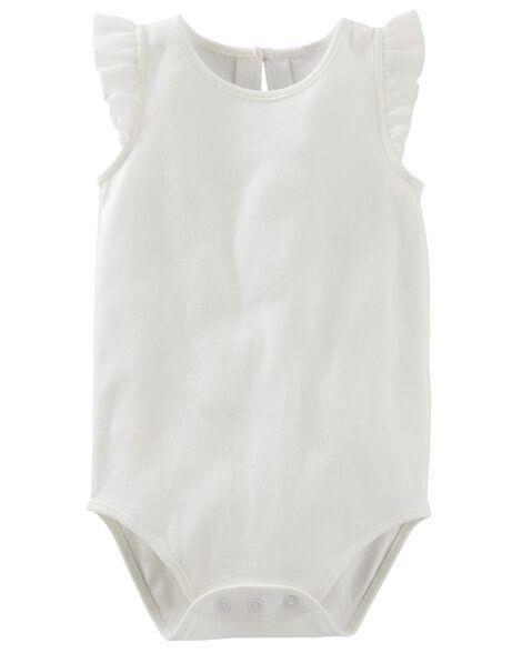 c8a98c412 Baby Girl Ruffle Sleeve Bodysuit