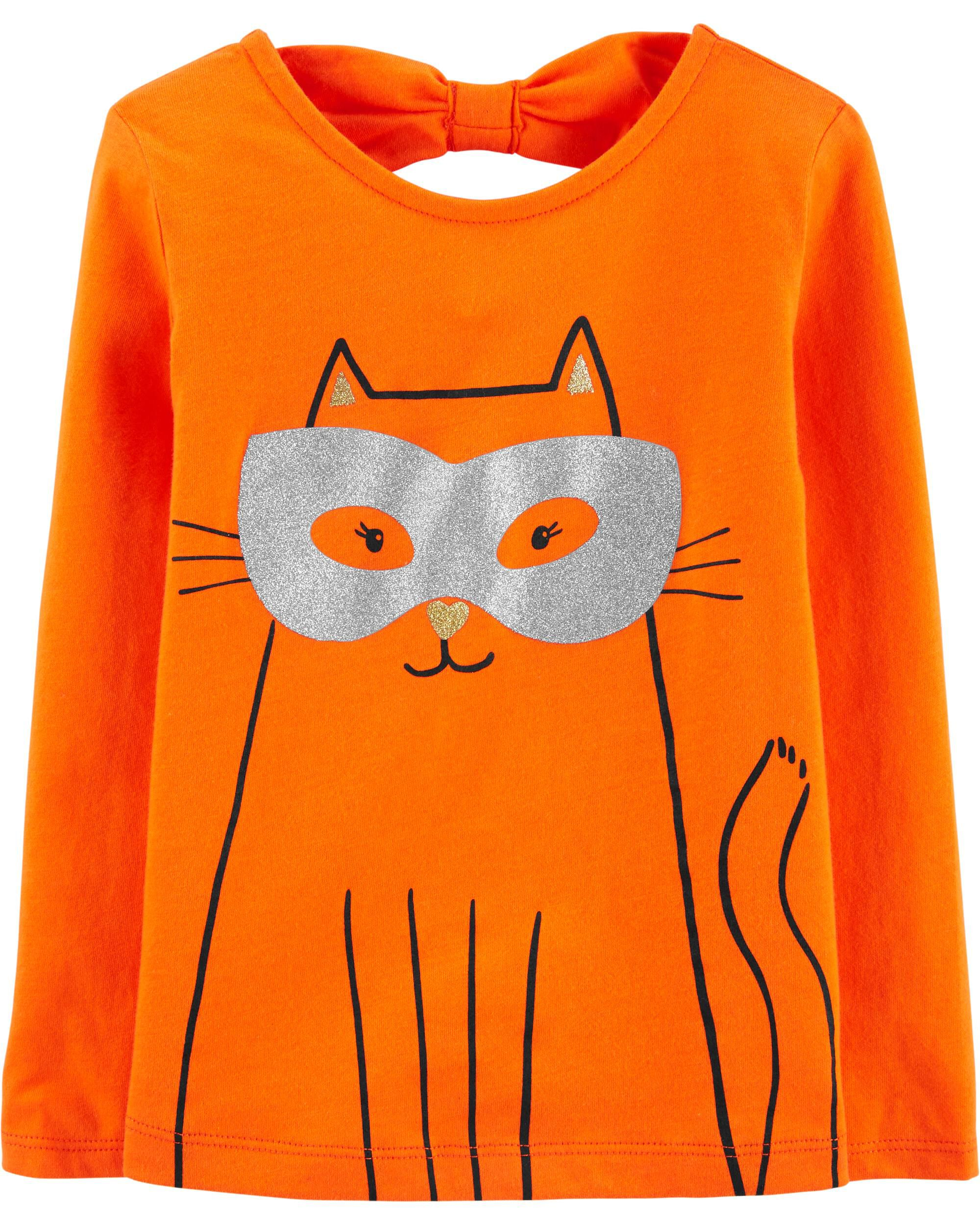 *CLEARANCE* Halloween Cat Jersey Tee