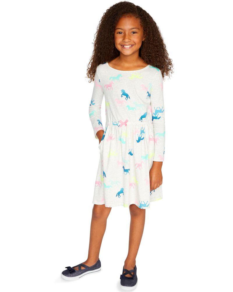 Girls dress size 12 month and 18 month Delaney pocket dress animal themed dress black background long sleeved dress with pocket
