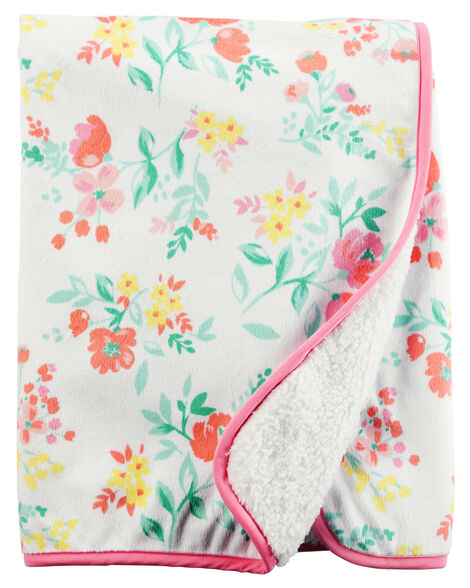 Floral Plush Blanket