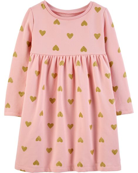 Heart Fleece Dress