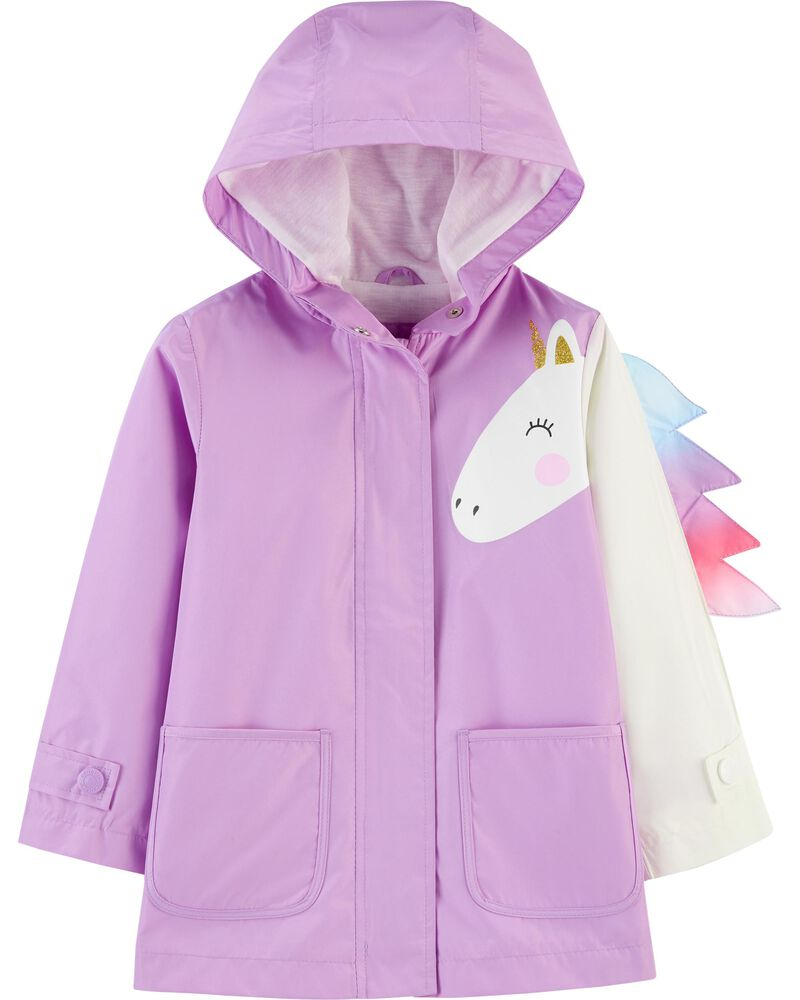 Carters Baby Girls Unicorn Rain Jacket