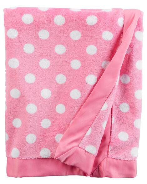 Polka Dot Plush Blanket