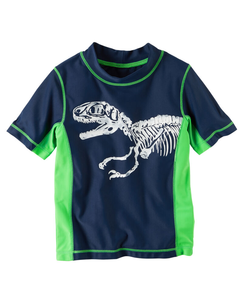 Carters 1-Piece Dinosaur Rashguard Swimsuit