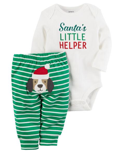 Images. 2-Piece Christmas Bodysuit Pant Set b678b0aa0