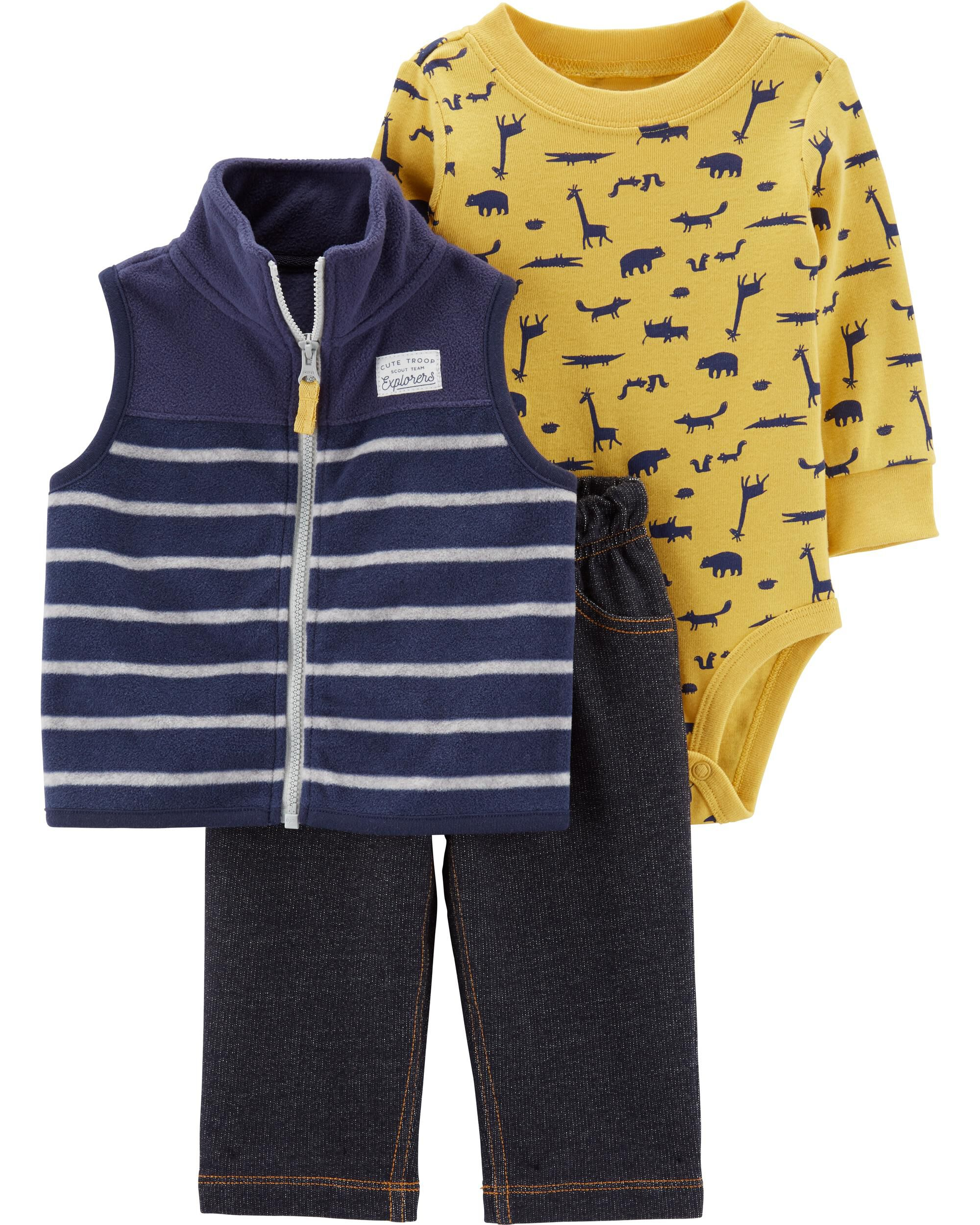 *CLEARANCE* 3-Piece Animal Little Vest Set