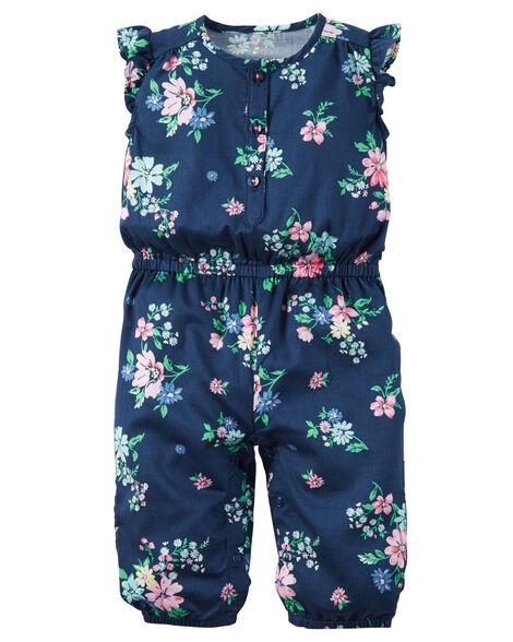 cbb508a5082 Images. Floral Flutter-Sleeve Jumpsuit
