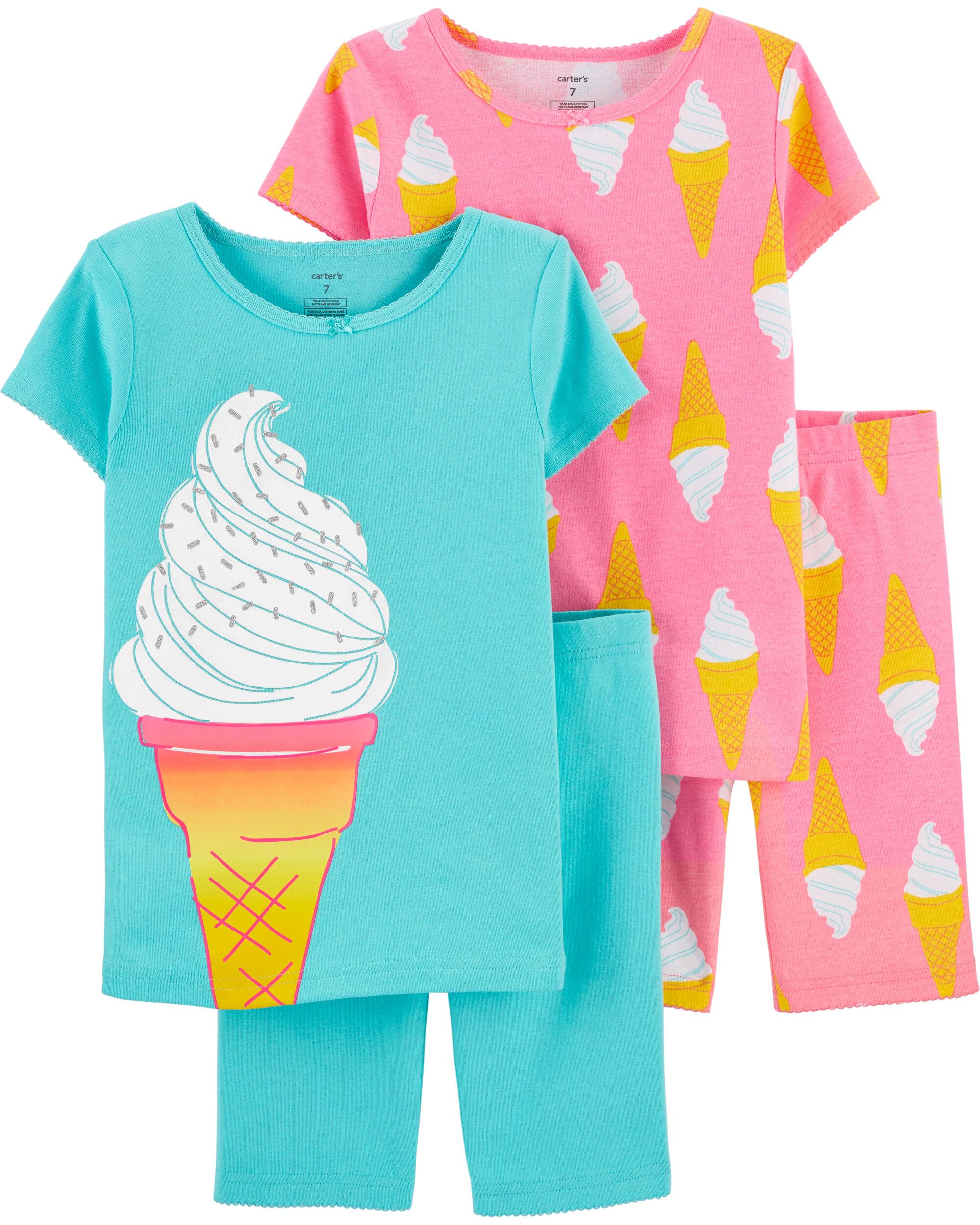 New Carter/'s Fairy Pajama Set Girls Snug Fit many sizes Blue Short sleeve
