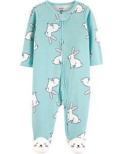 a93b1f495fd Bunny Zip-Up Cotton Sleep   Play