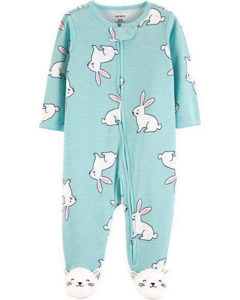 Images. Bunny Zip-Up Cotton Sleep   Play 561ebf1bb