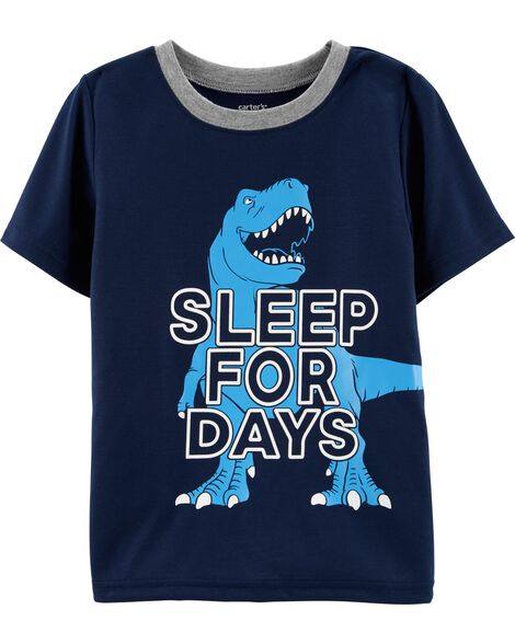 Dinosaur Poly Sleep Tee