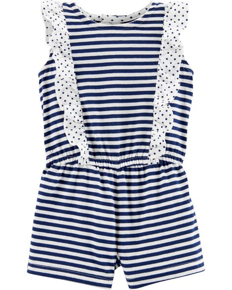 Striped Jersey Romper
