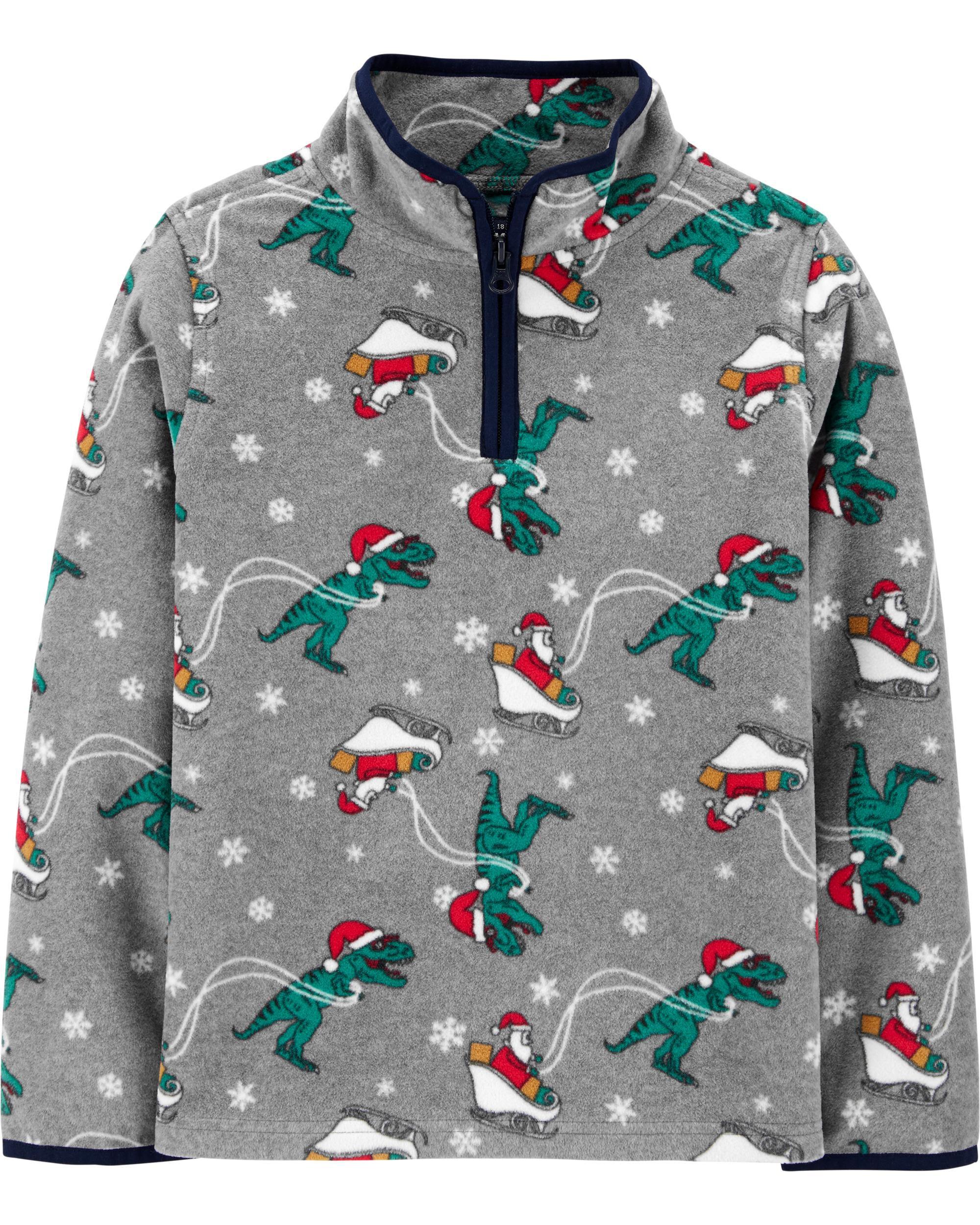 *DOORBUSTER* Christmas Dinosaur B'gosh Fleece Cozie