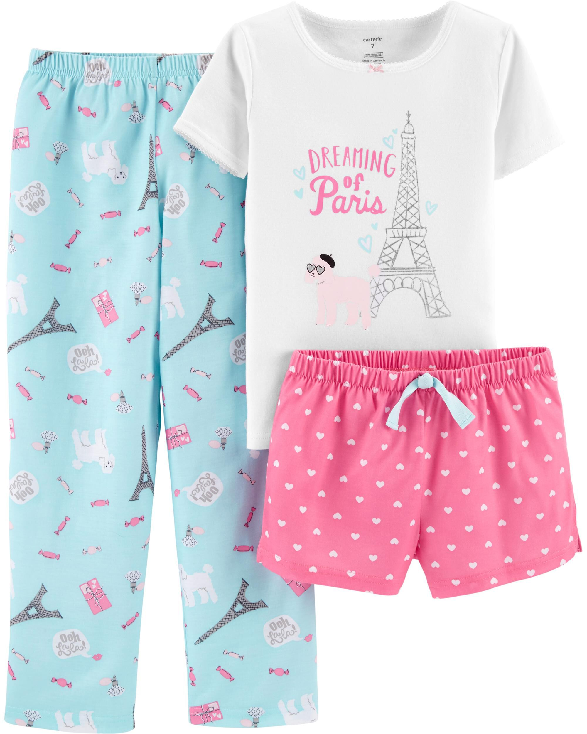 8d2b798c6 3-Piece Paris Poly PJs. Loading zoom