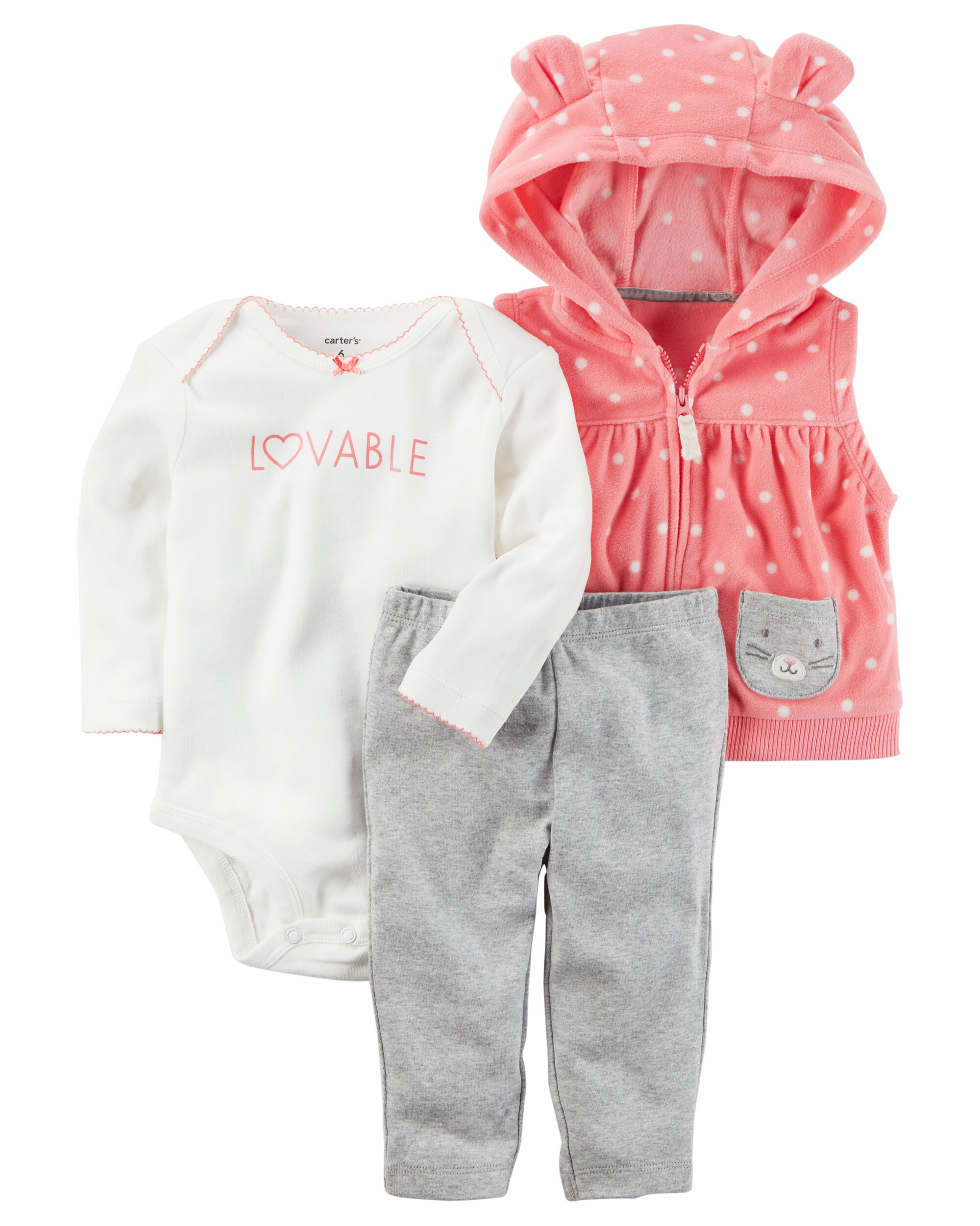 3 Piece Little Vest Set Carters Com