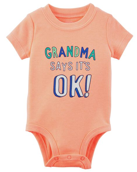 b8d9eee0d004 Neon Grandma Says It s Ok Collectible Bodysuit
