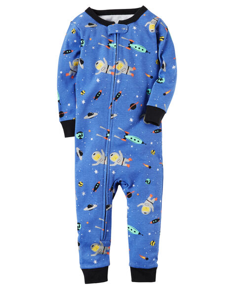 32e24365b 1-Piece Space Snug Fit Cotton Footless PJs
