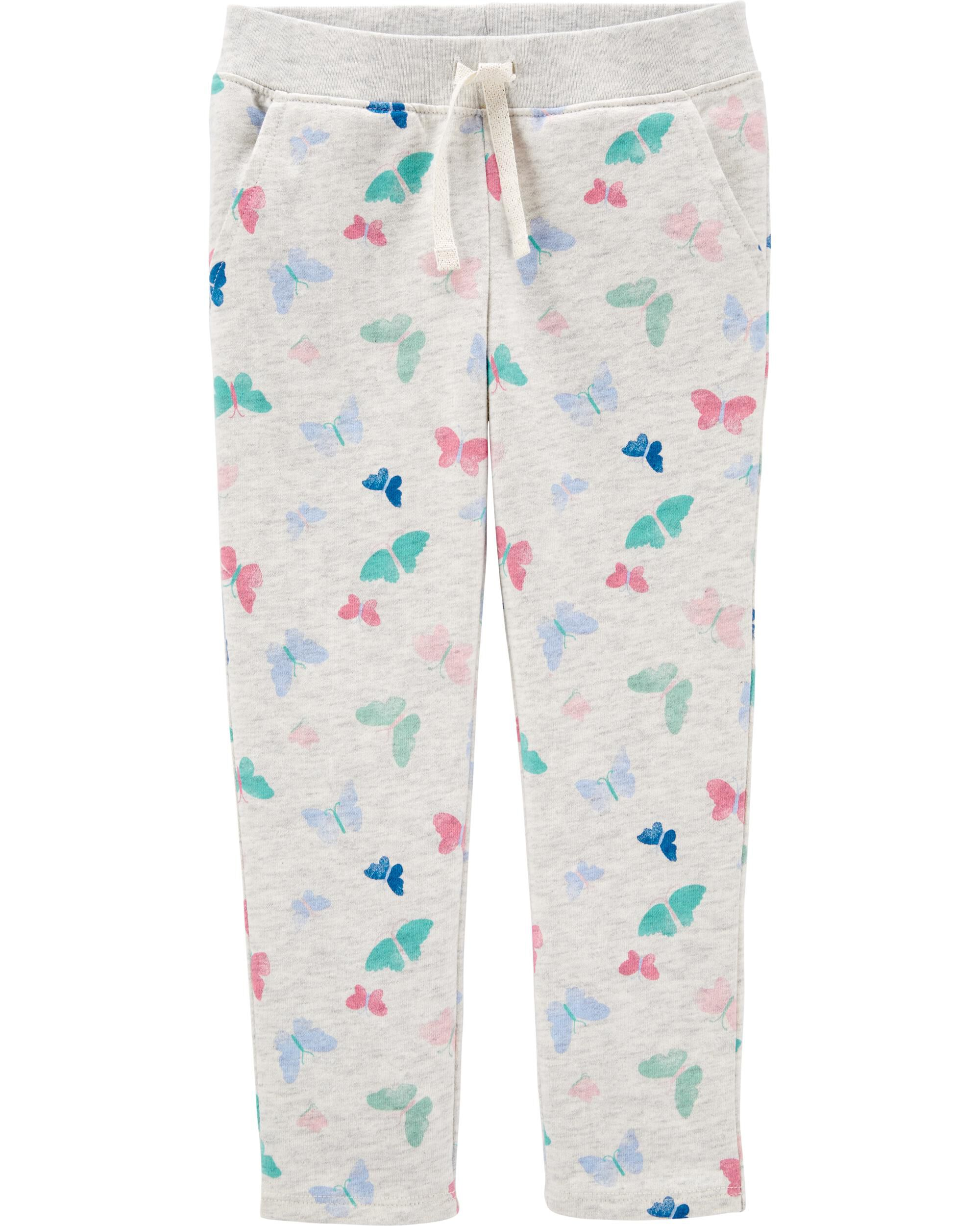 *CLEARANCE* Butterfly Pull-On French Terry Pants