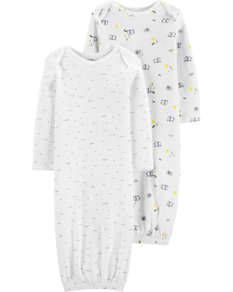 fc6e2976f2 2-Pack Certified Organic Sleeper Gowns