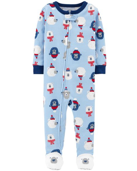 f08eeb1b3be1 1-Piece Polar Bear Snug Fit Cotton PJs