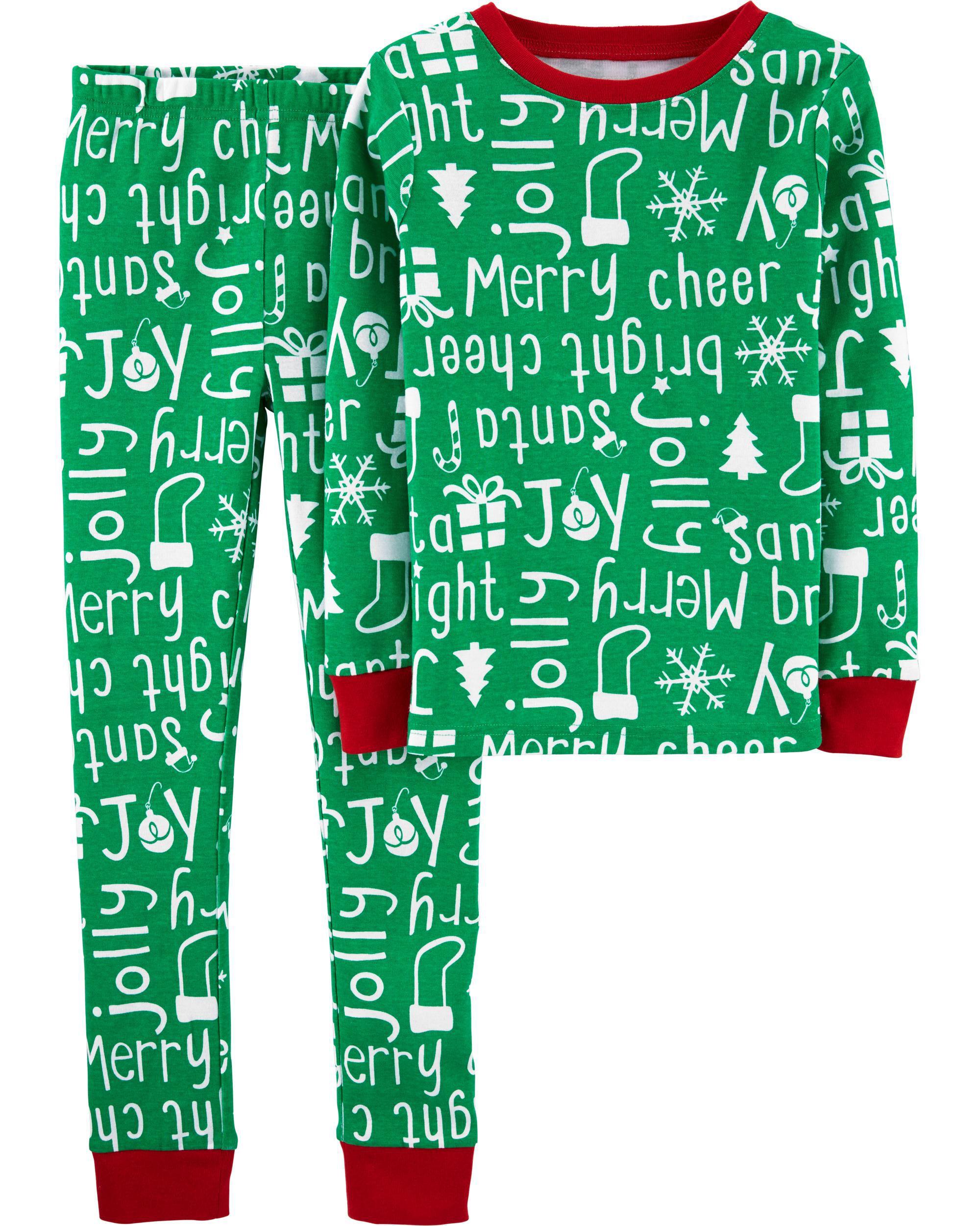 *DOORBUSTER* 2-Piece Christmas Snug Fit Cotton PJs