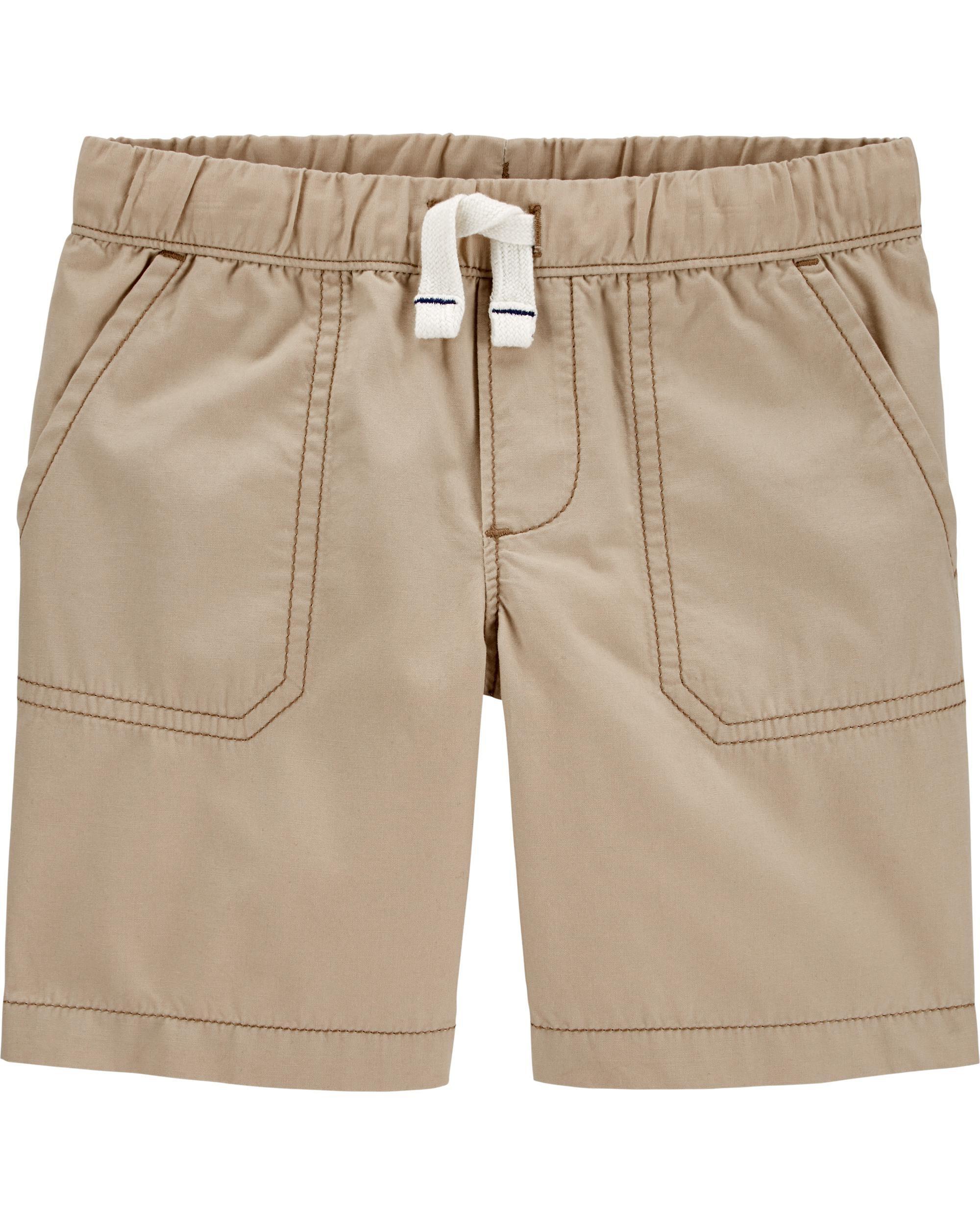 Lot of 3 Toddler Carter's Boy Cargo Shorts Camouflage//Khaki Tan//Gray Sz 4T