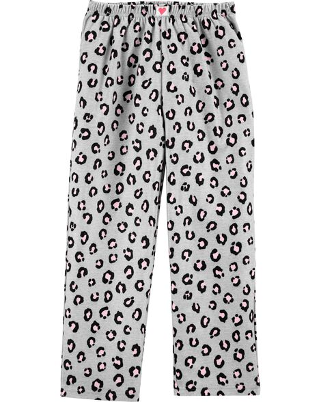 Leopard Fleece Sleep Pants