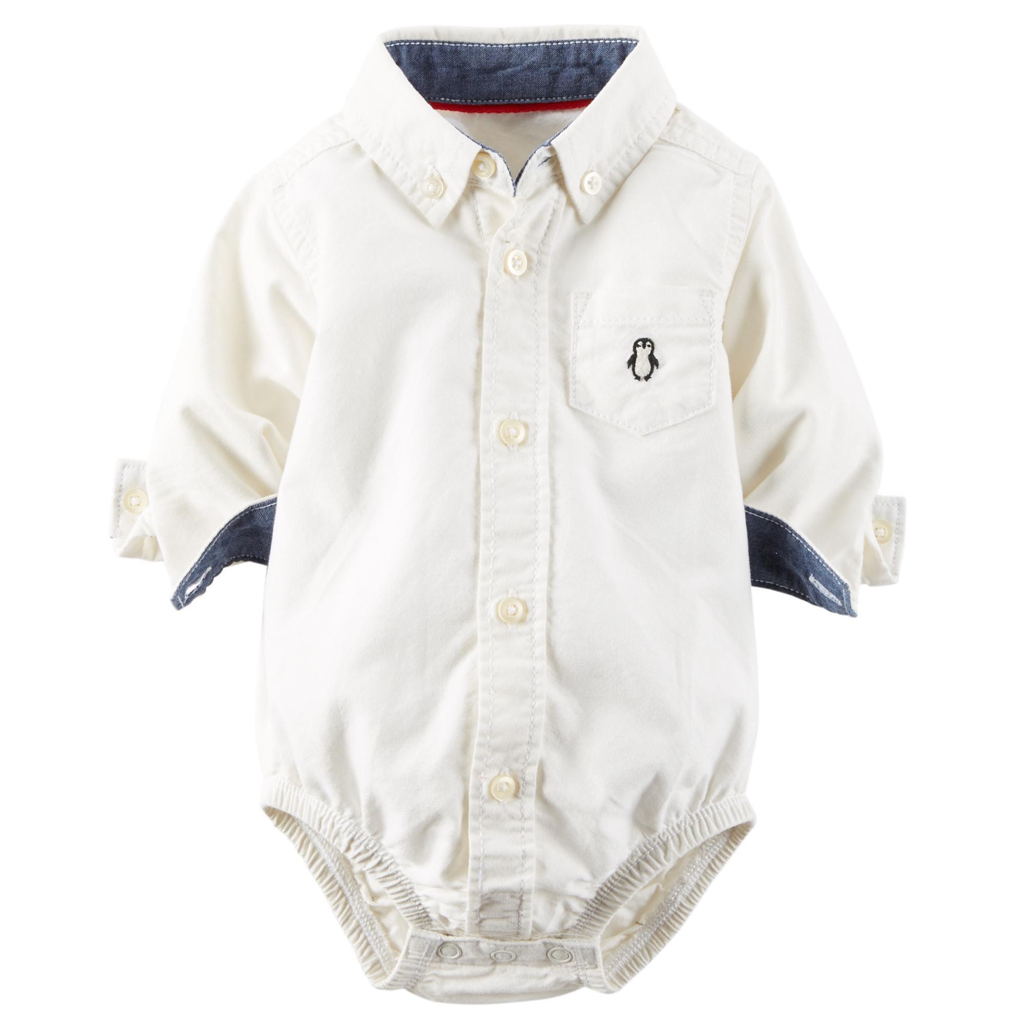 Oxford Button Front Bodysuit