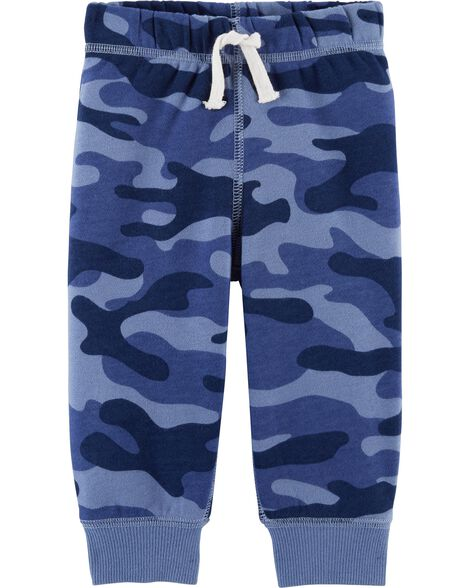 Camo Pull-On Fleece Joggers