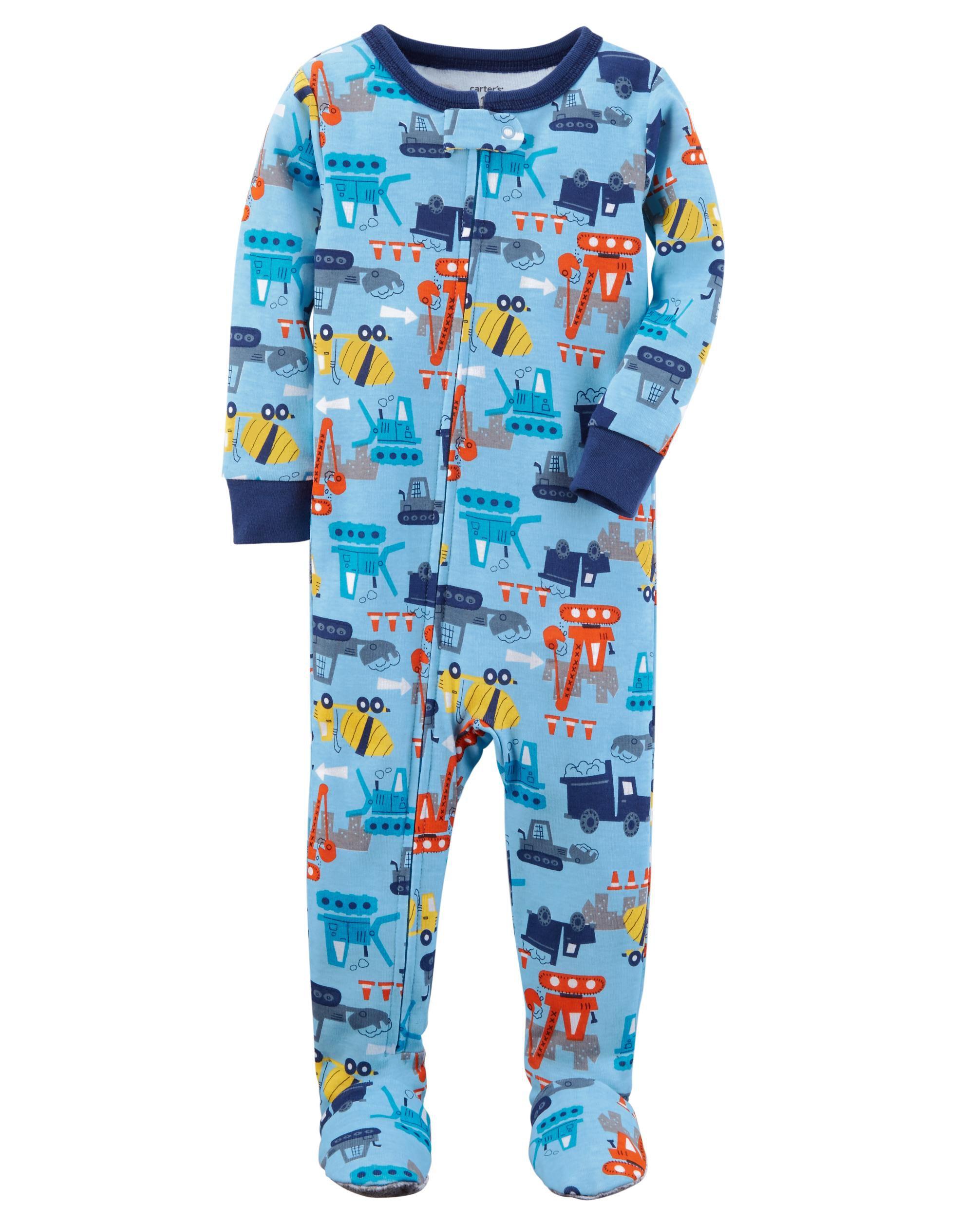 Carters 1-Piece Construction Snug Fit Cotton Sleep Romper