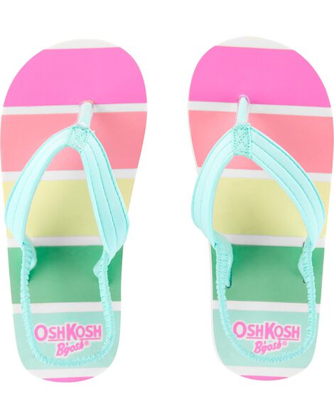5dd34cf1c Baby Girl OshKosh Rainbow Flip Flops