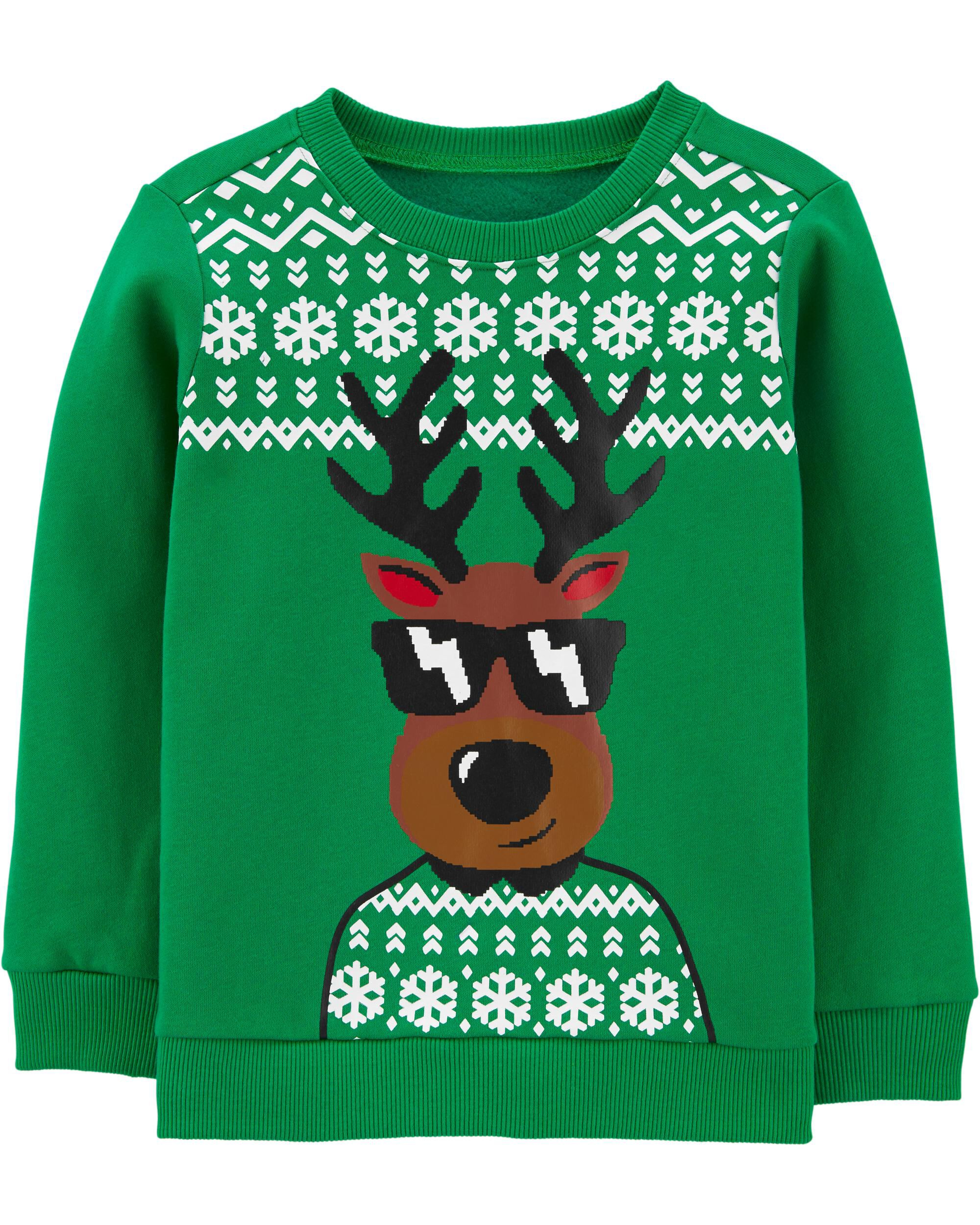 Reindeer Christmas Crew Neck Sweatshirt  