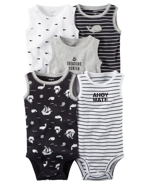 33ea20f2c 5-Pack Little Matey Sleeveless Original Bodysuits