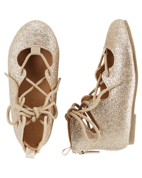 Carter's Lace-Up Ballet Flats