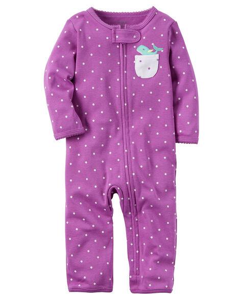 0d644668d199 Cotton Zip-Up Footless Sleep   Play