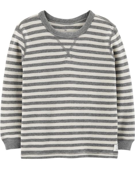 Striped Thermal Tee