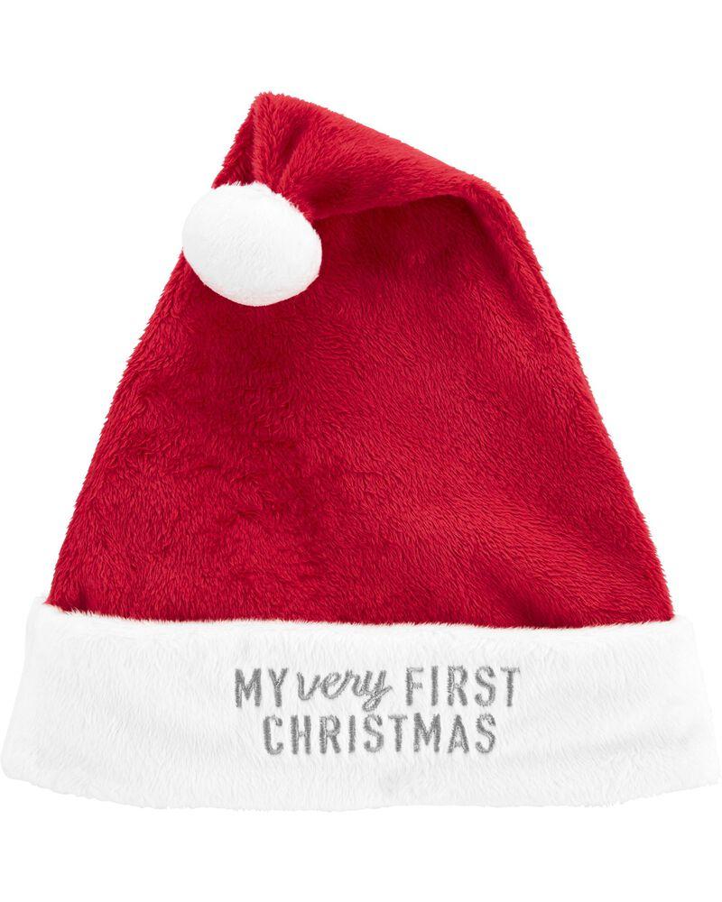 NEW Carter/'s Baby 9m Unisex Holiday Christmas Santa One piece Sleeper Hat Set