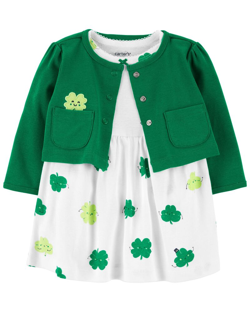 MOMBEBE COSLAND Baby Girls St Patricks Day Costume Bodysuit Set