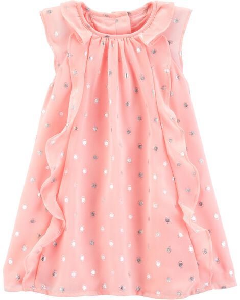 db62952a1 Baby Girl Polka Dot Ruffle Front Dress | OshKosh.com
