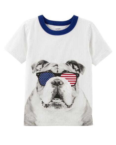 e96dd2c8 Fourth Of July Bulldog Tee | Carters.com