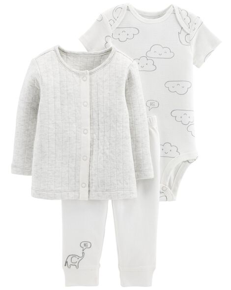 6614c660ab49 3-Piece Little Cardigan Set