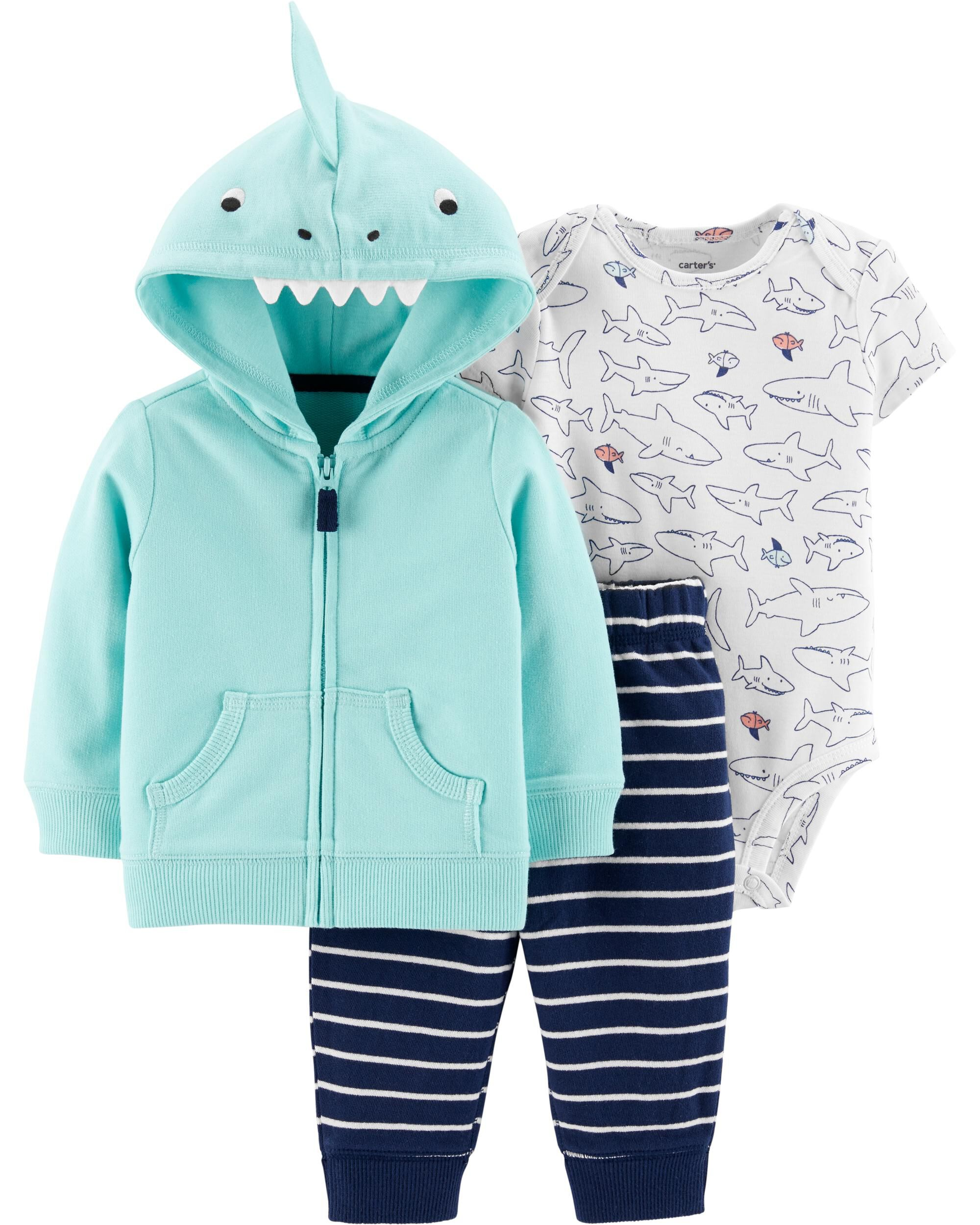 Baby Little Guy Carters Baby Boys 3 Piece Graphic PJ Set