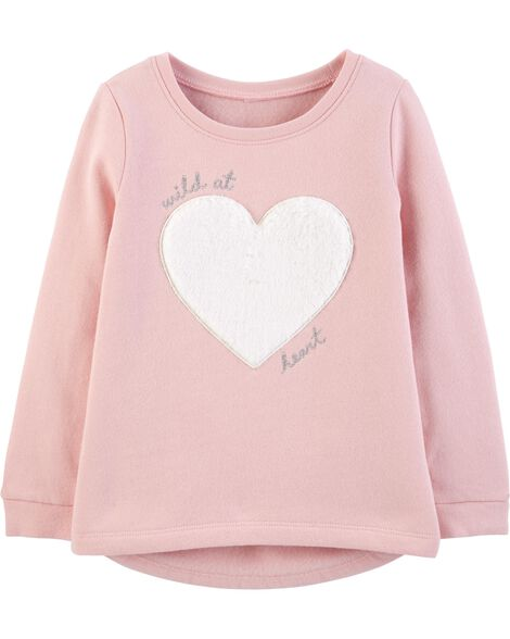 Heart Hi-Lo Fleece Top