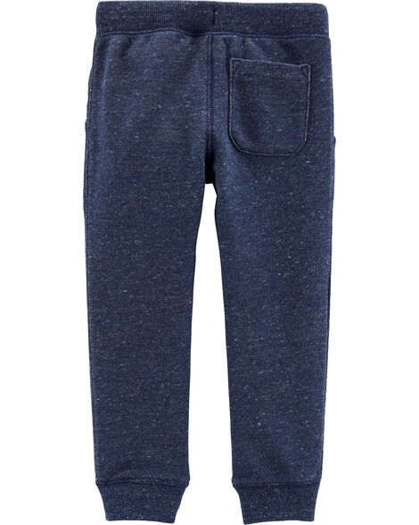 Pull-On Marled Yarn French Terry Joggers
