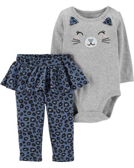 a03eb3672 2-Piece Cat Bodysuit & Tutu Pant Set | Carters.com
